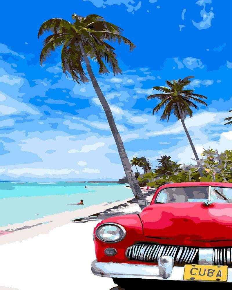 Рисование по номерам Кубинский пляж GX31827 Rainbow Art 40 х 50 см (без коробки)