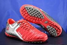 Подростковые красные сороконожки, многошиповки, обувь для футбола размеры:38,40,41