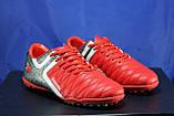 Підліткові червоні стоноги, многошиповки, взуття для футболу розміри:38,40,41, фото 3