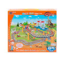 ЖД 339-11 (12шт) 98-88см,локомотив,2вагона,машинка,муз,свет,85дет,на бат,в кор-ке, 40,5-35-10см