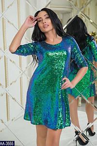 Красивое платье в пайетках