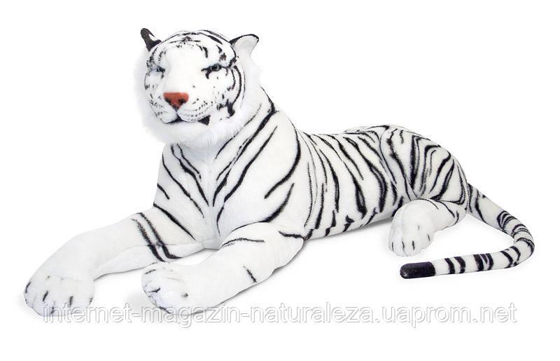 Белый плюшевый тигр ТМ Melissa&Doug