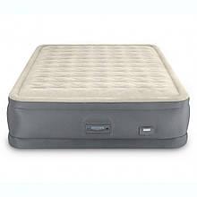 Надувная велюр-кровать Intex 64926 152х203х46 см со встроенным электронасосом