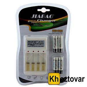 Зарядний пристрій для батарей з 4-ма пальчиковими батарейками Jiabao Charger JB-212