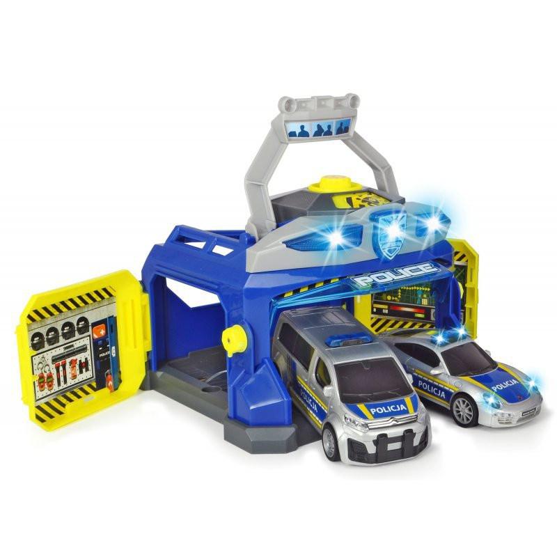 Полицейский штаб + 2 машины Dickie 3715010