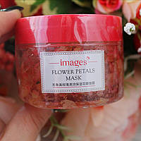 Маска для лица гелевая с лепестками роз IMAGES Flower Petals Mask Rose (120г)