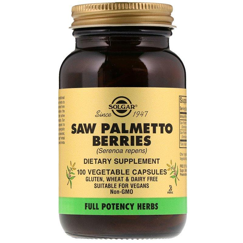 "Экстракт ягод пальмы Сереноа SOLGAR ""Saw Palmetto Berries"" (100 капсул)"