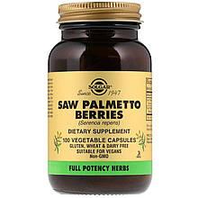 """Экстракт ягод пальмы Сереноа SOLGAR """"Saw Palmetto Berries"""" (100 капсул)"""