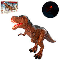 Динозавр RS6163 (18шт) 50см, звук, свет,ходит, подвиж.детали, на бат-ке, в кор-ке, 51-30,5-12см