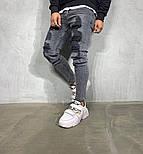 Мужские осенние весенние джинсы рваные светло серые. Живое фото, фото 2