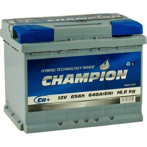 Аккумулятор автомобильный 6СТ-65Ач. 640A. CHAMPION