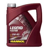 Моторное масло синтетика  Mannol (Манол) Legend+Ester 0w40 4л.