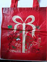 Эко-сумка из спанбонда с петлевыми ручками объемная 35*40*12 см Одетекс