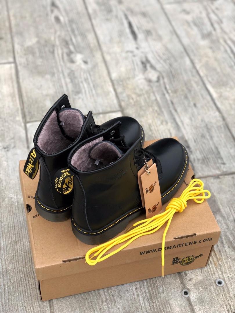 """Мужские зимние ботинки Dr.Martens """"Black"""", фото 4"""