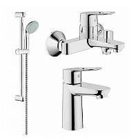 Набор смесителей для умывальника, ванны и душевая стойка S-Size Grohe BauLoop 123214S