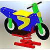 "Дитяча гойдалка-качалка на пружині ""Мотоцикл"""