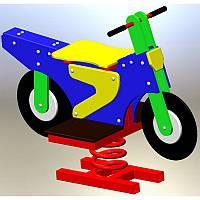 """Дитяча гойдалка-качалка на пружині """"Мотоцикл"""", фото 1"""