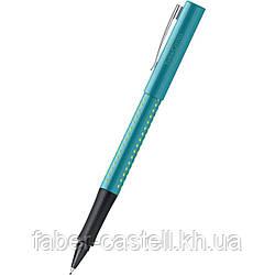 Ручка капиллярная Faber-Castell GRIP 2010 FineWriter, корпус бирюзовый, стержень синий, 140412