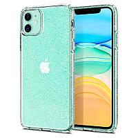 Чехол Spigen для iPhone 11 Liquid Crystal Glitter, Crystal Quartz (076CS27181), фото 1