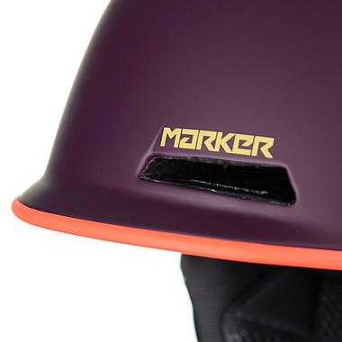 Шолом гірськолижний Marker Kent 51-56 Purple, фото 3