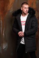 Парка пальто мужская зимняя ОллБлэк Асос winter до -30°С | куртка мужская зимняя