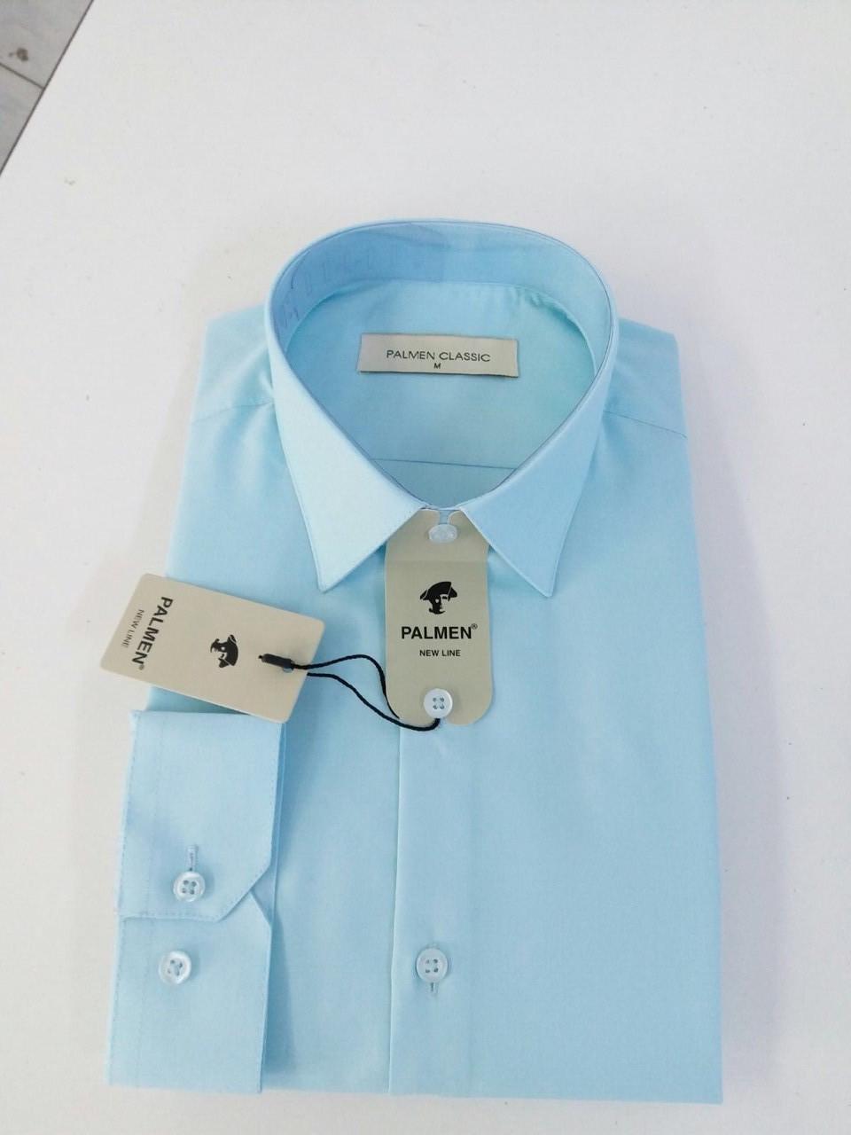 Рубашка однотонная классическая Palmen