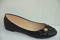 Женские балетки черные