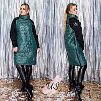 Батальный молодежный женский пуховик-пальто. 4 цвета!, фото 1