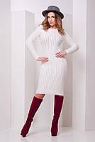 Платье женское, вязаное платье, цвета в ассортименте. Платье 135 молоко
