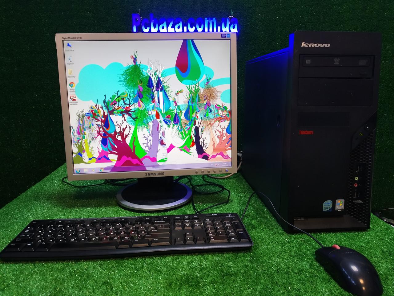 "Комплект настроенный Lenovo, 4 ядра, 4 ГБ, 160 Гб HDD +монитор 19"" Samsung"