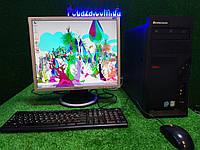 "Комплект настроенный Lenovo, 4 ядра, 4 ГБ, 160 Гб HDD +монитор 19"" Samsung, фото 1"