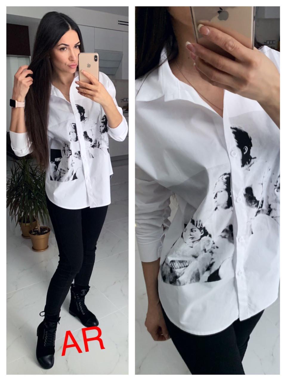 Рубашка(Фабричный Китай) Люкс качество  Ткань х/б+ рисунок Размер 42/46 (820)
