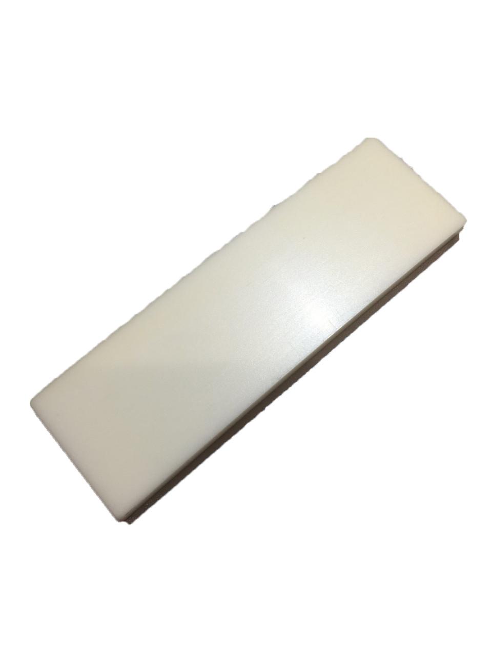 21910109 Белая вставка для деревянного ракеля for wooden squeegee with hard PU blade, 140mm Uzlex