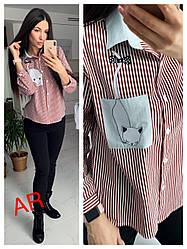 Рубашка(Фабричный Китай) Люкс качество Ткань х/б+ рисунок Размер 42/44 (1820)