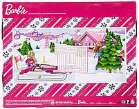 Игровой набор кукла Barbie Барби и её Сестры Снежная забава на снегоходе в зимней одежде, фото 7