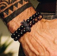 Мужской каменный браслет mod.Paradox комплект браслетов