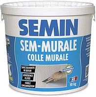 Клей готовый для стеклообоев и ткани SEMIN SEM-MURALE. Франция 10кг