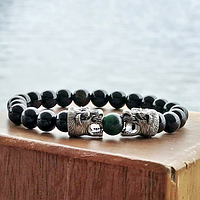 Мужской каменный браслет mod.Tai, фото 1