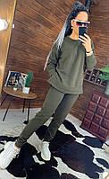 Женский теплый спортивный костюм на флисе с молниями на кофте 44msp816
