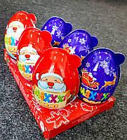 Яйцо пластиковое Maxxxi egg 90г Новогоднее с игрушкой-сюрпризом и конфетами для девочки/мальчика, 6шт
