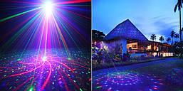 Лазерний проектор STAR SHOWER 8в1 три кольори СУПЕР, фото 3