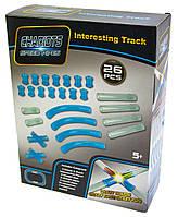 Автотрек в трубе Chariots Speed Pipes дополнительные трубы,игрушка для  мальчиков,цвет синий