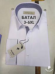 Рубашка однотонная Palmen жжакард батал