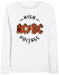 Женский свитшот AC/DC - High Voltage (белый)
