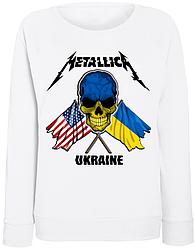 Женский свитшот Metallica - Ukraine (белый)
