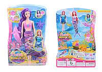 """Кукла """"Русалочка"""" 2 вида, платье 2в1: хвост превращается в платье, с дельфином, в кор.22*32*6см /24/"""