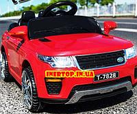 Детский электромобиль Land Rover Ленд Ровер M 5396EBLR-3 красный для детей от 3 до 6 лет.