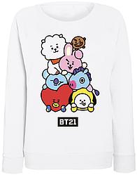 """Женский свитшот BTS Bangtan Boys """"BT21"""" (белый)"""