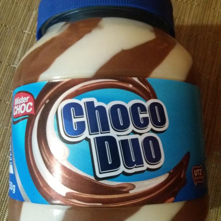 Шоколадно - молочная паста ChocoDuo , стеклянная банка , 750 г.