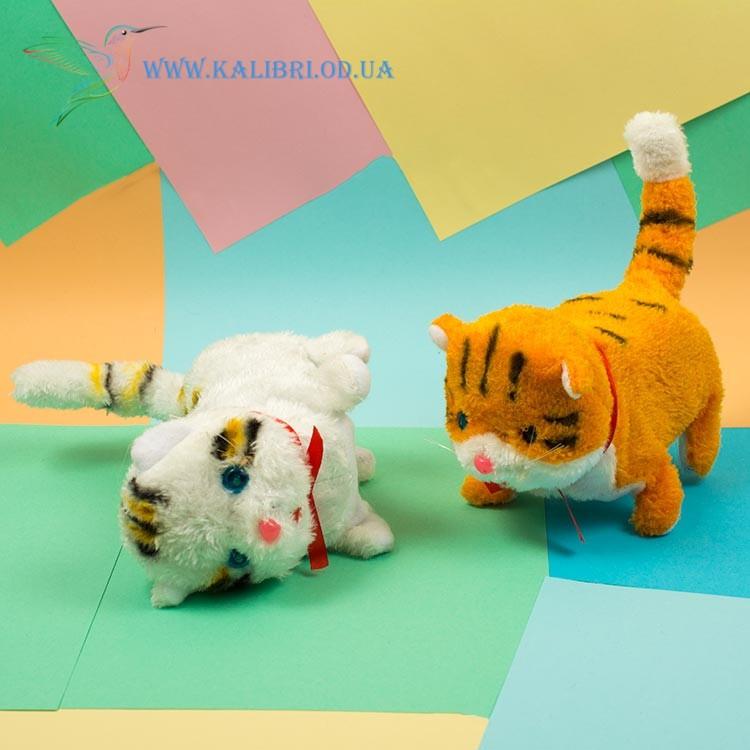 Мягкая игрушка котик механический, кот ходилка CO-5-4
